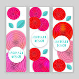 Flower banner holiday Royalty Free Stock Images
