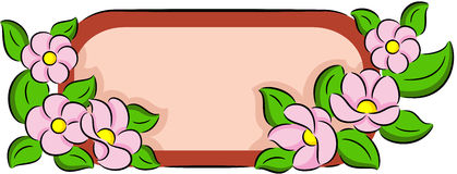 Flower banner Stock Images