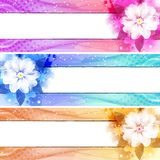 Flower Banner Set Royalty Free Stock Photos
