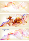 Flower banner with space for text Stock Images