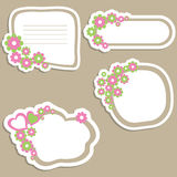 Flower banners. Set of four Flower banners. vector illustration Stock Photo