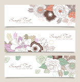Flower banners Royalty Free Stock Photos