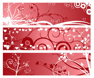 Flower banners Royalty Free Stock Images