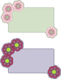 Flower banners Royalty Free Stock Image