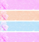 4 flower banners Stock Photo
