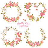 Flower Banners and Tags. For your design and scrapbook - in vector royalty free illustration