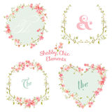 Flower Banners and Tags. For your design and scrapbook - in vector Stock Photos
