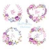 Flower Banners and Tags Royalty Free Stock Images