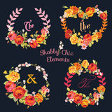 Flower Banners and Tags stock illustration