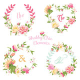 Flower Banners and Tags Stock Images
