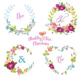 Flower Banners and Tags Stock Image