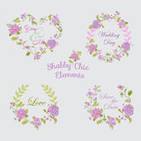 Flower Banners and Tags vector illustration