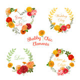 Flower Banners and Tags Stock Photography