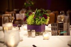 Flower banquet centerpiece Royalty Free Stock Photo