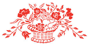 Flower and basket Royalty Free Stock Photography