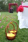 Flower basket. At the wedding Stock Image