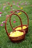 Flower basket. At the wedding Royalty Free Stock Image
