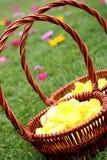 Flower basket. At the wedding Stock Photo