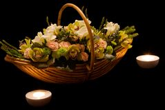 Flower basket. For special occasions stock photography