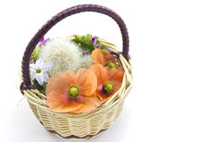 Flower Basket. This is a flower basket made of wild grass Royalty Free Stock Photography