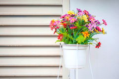 Flower basket design Royalty Free Stock Image
