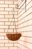Flower basket - hanging cache-pot Royalty Free Stock Photography