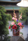 Flower basket in temple Stock Photos