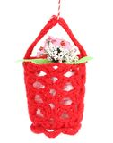 Flower in a basket. Stock Photo