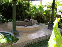 Flower bath. Bali royalty free stock photo