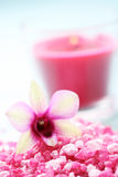 Flower bath salt Royalty Free Stock Photography