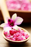 Flower bath salt Royalty Free Stock Photo