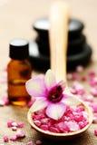 Flower bath salt Stock Photo