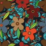 Flower batik seamless pattern Stock Image