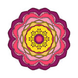 Flower in beautiful bright colors on white background. Vector illustration for your design.  Vector Illustration