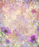 Flower beautiful pink and violet leaf Royalty Free Stock Photos
