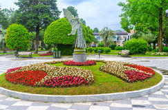 The flower bed with the fairy Royalty Free Stock Photos