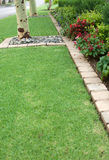 Flower bed and lawn edging Stock Photos