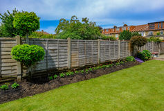Flower bed with newly panted bedding flowers Royalty Free Stock Photography