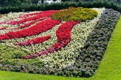 Flower Bed in Park,Lausanne,Lake Geneva,Switzerlan Stock Photos