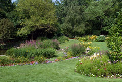 Flower Beds. Of a small estate Royalty Free Stock Photography