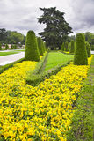 Flower beds and avenues Stock Photo
