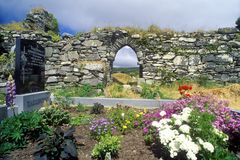 Flower beds in Kilcatherine Church, Cork, Ireland Royalty Free Stock Images