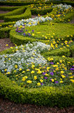 Flower Beds - landscaped garden Royalty Free Stock Photos