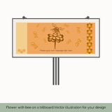 Flower with bee on a billboard Stock Images