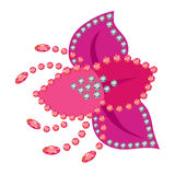 Flower beeds brooch stock illustration
