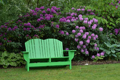 Flower Bench Royalty Free Stock Photo