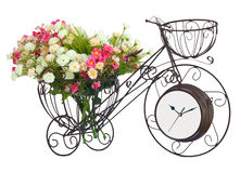 Flower on bicycle watch Royalty Free Stock Photos