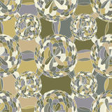 Flower big small circle line seamless pattern Royalty Free Stock Photos