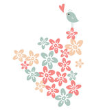 flower and bird Royalty Free Stock Photography