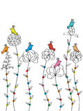 Flower Bird Backdrop Stock Images